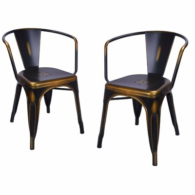Halley Metal Dining Chair Color: Bronze