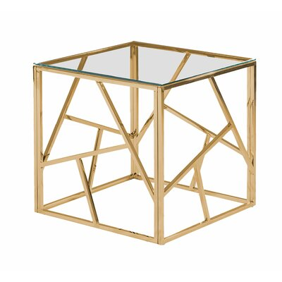 Socaci Angled End Table Table Base Color: Gold