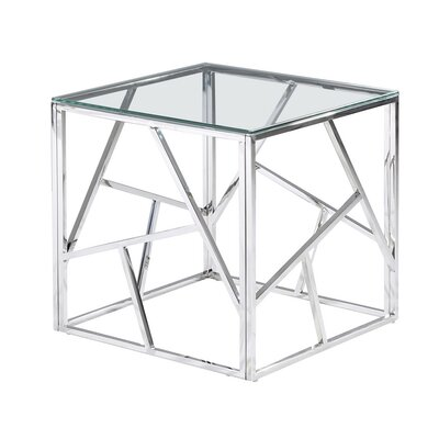 Socaci Angled End Table Table Base Color: Silver