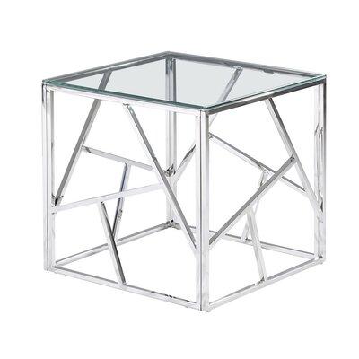 Socaci Angled End Table Table Base Color: Silver