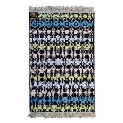 Accent Double Sided Blue/Yellow Indoor/Outdoor Area Rug