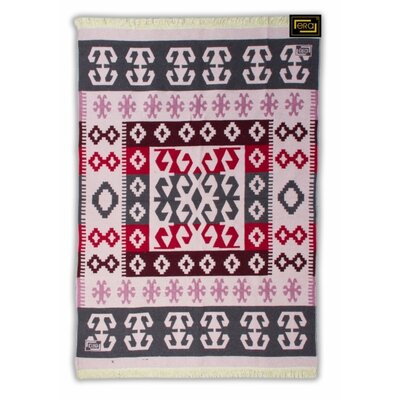 Accent Double Sided Pink/Gray Indoor/Outdoor Area Rug