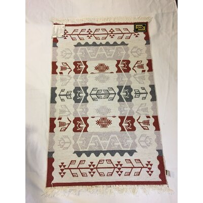 Accent Double Sided Red/Beige Indoor/Outdoor Area Rug