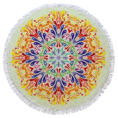 Rhiannon Round Beach Towel Color: Yellow/Orange/Blue