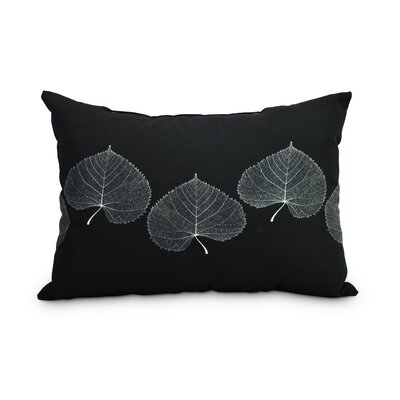 Heeter Leaf Print Floral Decorative Indoor/Outdoor Lumbar Pillow