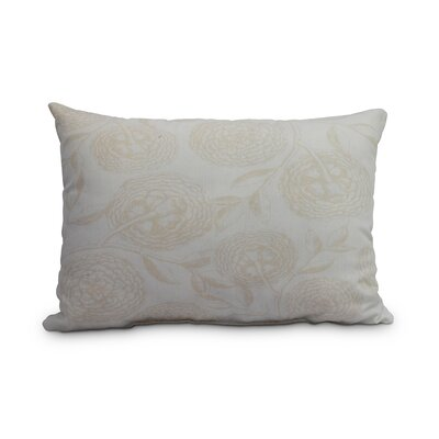 Jowett Antique Flowers Decorative Floral Indoor/Outdoor Lumbar Pillow