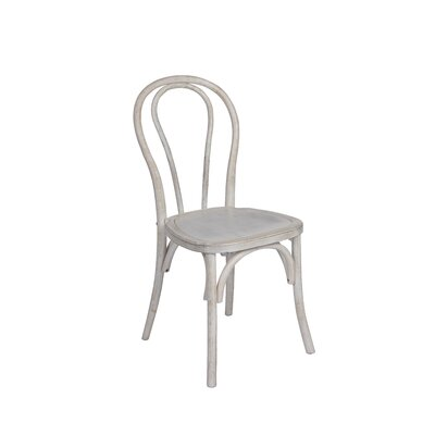 Fallinerlea Cafe Bentwood Antique Solid Wood Dining Chair (Set of 2) Color: White Washed