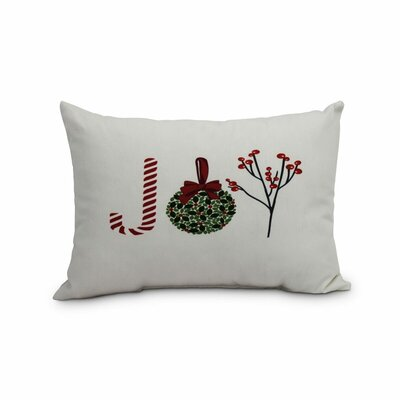 Fawcett Oh Joy! Decorative Word Indoor/Outdoor Lumbar Pillow