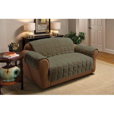Burnham Protector T-Cushion Sofa Slipcover Upholstery: Olive