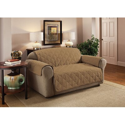 Box Cushion Sofa Slipcover Upholstery: Camel