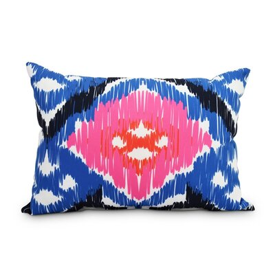 Queens Boulevard Decorative Abstract Indoor/Outdoor Lumbar Pillow