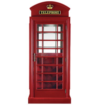 Marroquin Telephone Booth Bar Cabinet