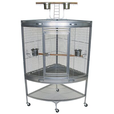 Wrought Iron Bird Cage with Removable Tray