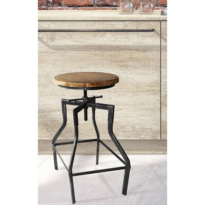 Hogle Adjustable Height Swivel Bar Stool