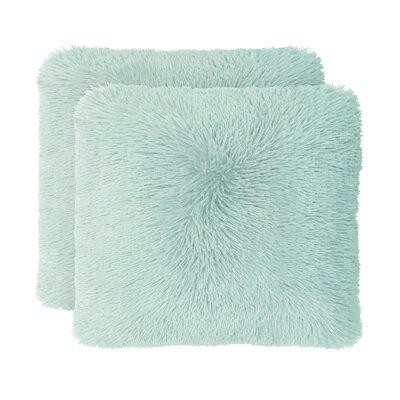 Englishcombe Shag Decorative Throw Pillow Color: Aqua