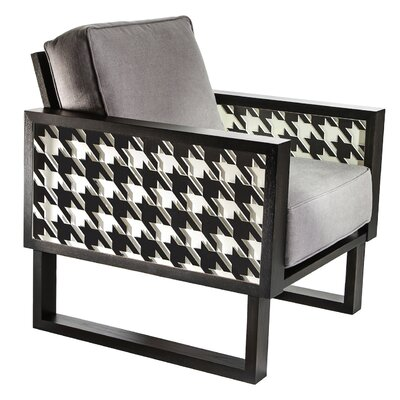Winder Houndstooth Armchair Upholstery: Gray, Finish: Gray