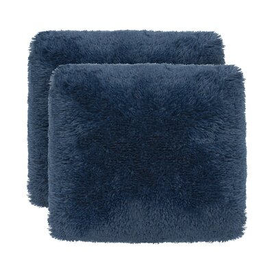 Englishcombe Shag Decorative Throw Pillow Color: Navy