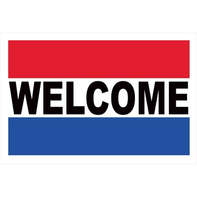 Welcome Banner Size: 24 H x 36 W x 0.18 D