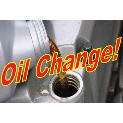 Oil Change Banner Size: 24 H x 36 W x 0.18 D