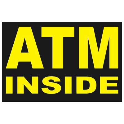 ATM Banner Size: 24 H x 36 W x 0.18 D