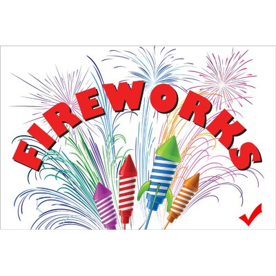 Fireworks Banner Size: 24 H x 36 W x 0.18 D