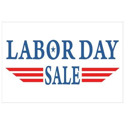 Labor Day Banner Size: 24 H x 36 W x 0.18 D