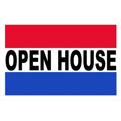 Open House Banner Size: 24 H x 36 W x 0.18 D