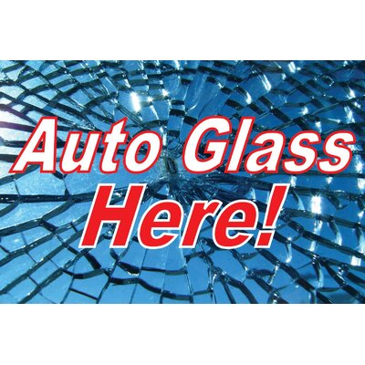 Auto Glass Banner Size: 24 H x 36 W x 0.18 D