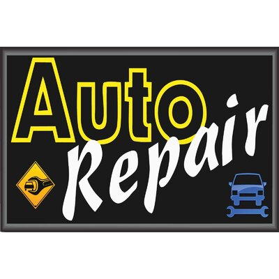 Auto Repair Banner Size: 24 H x 36 W x 0.18 D