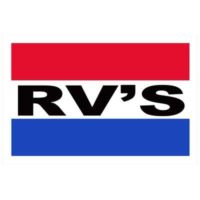 RV Banner Size: 24 H x 36 W x 0.18 D