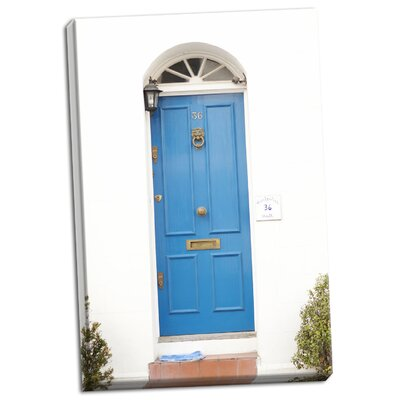 'Blue Door' Photographic Print on Wrapped Canvas 3F09BB0887784B17BE8546D47F74466B