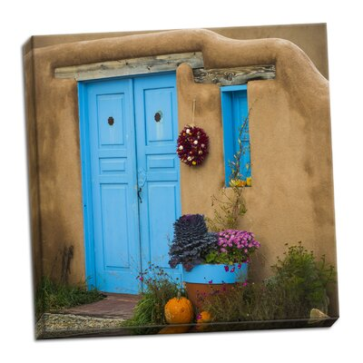 'Blue Door I' Photographic Print on Wrapped Canvas 247912C1F4A64B058CB2BFB122566245