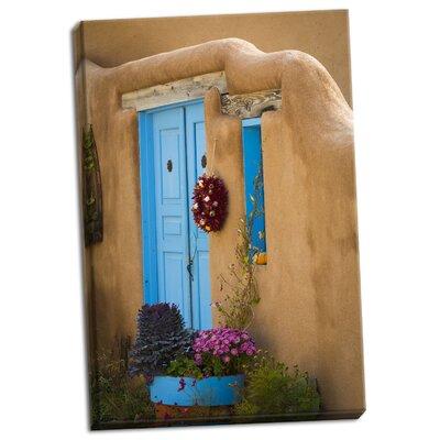 'Blue Door IV' Photographic Print on Wrapped Canvas FFC1986B7EC34E70AC9B7EF1957B5746