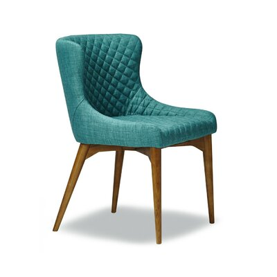 Dahlstrom Upholstered Dining Chair Upholstery Color: Teal