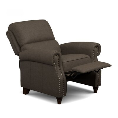 Hesse Manual Recliner Upholstery: Brown
