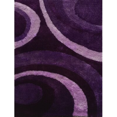 Wiliams Abstract Shag Hand-Tufted Purple Area Rug
