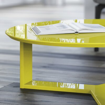 Madison Round Accent Coffee Table Color: Lime Gloss