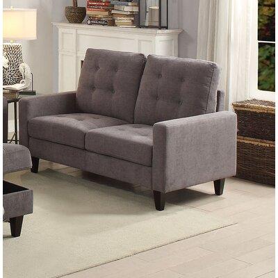 Dovercourt Loveseat Upholstery: Gray
