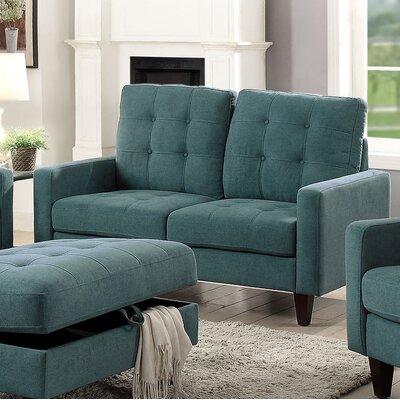 Dovercourt Loveseat Upholstery: Teal