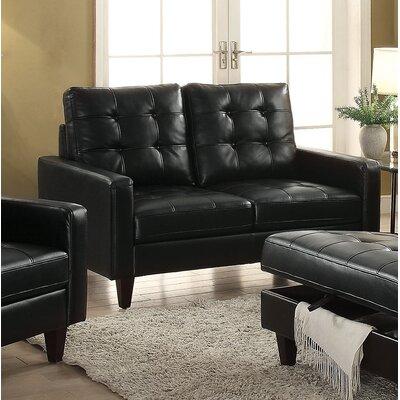 Dowdle Loveseat Upholstery: Black
