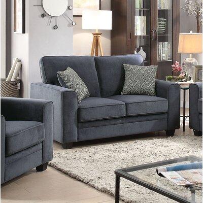 Lueras Loveseat Upholstery: Blue