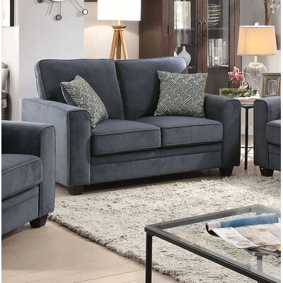 Lueras Sleeper Loveseat Upholstery: Blue