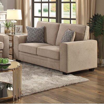 Lueras Sleeper Loveseat Upholstery: Khaki