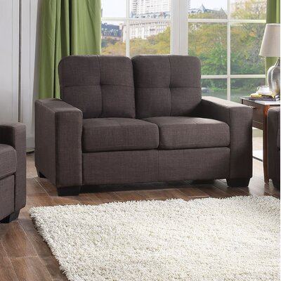 Marrufo Loveseat Upholstery: Charcoal