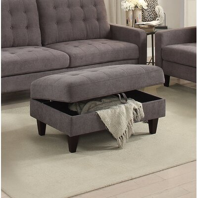Marcial Storage Ottoman Upholstery: Gray