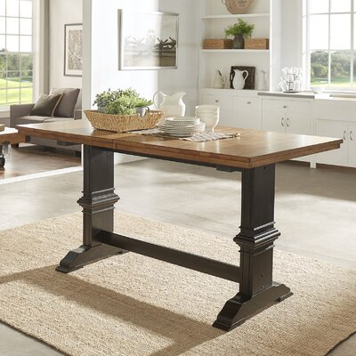 Mariotti Counter Height Extendable Dining Table Base Color: Antique Black