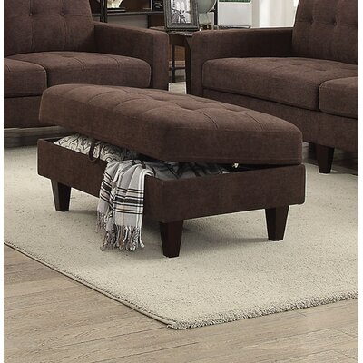 Marcial Storage Ottoman Upholstery: Chocolate