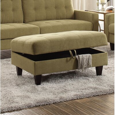 Marcial Storage Ottoman Upholstery: Mustard
