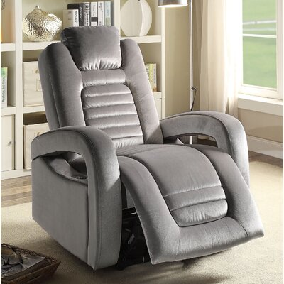 Marcum Motion Power Glider Recliner Upholstery: Silver