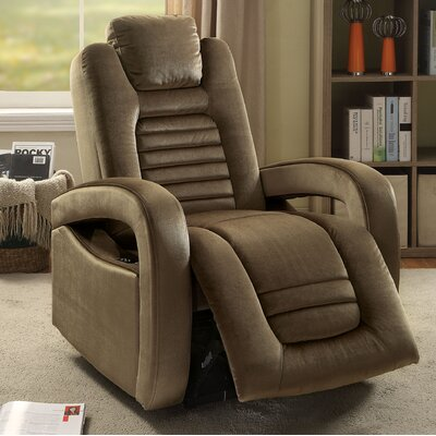 Marcum Motion Power Glider Recliner Upholstery: Brown